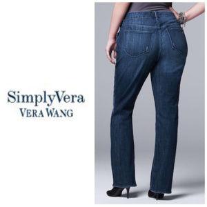 Simply Vera Wang Bootcut Jeans Plus Sz 16W NWT